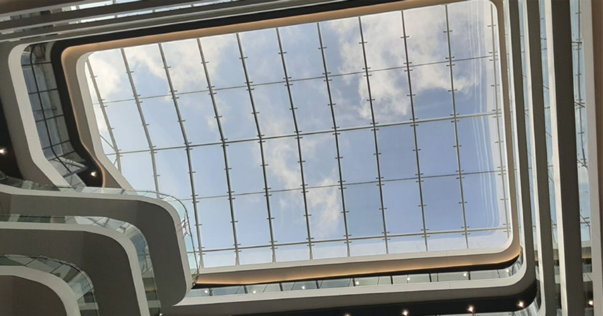 Winning Project: The Menlyn Maine West Atrium skylight project.